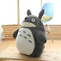 Cartoon Mein Nachbar Totoro Tier Plüsch Kissengewebe Komfortable Füllung volle weiche Spielzeug Baby Raum Dekoration Anhängerurlaub GIF Y0726