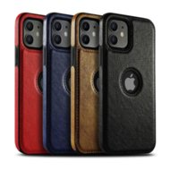 PU Leather Phone Cases for iPhone 13 11 Pro Max 12 mini XS XR X 7 8 Plus Soft TPU Shockproof Back Cover
