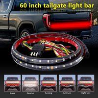 Emergency Lights 60 Inch Truck LED Tailgate Strip Light 12V Pickup Steering Reversing Two-Color 6000k 720LM For Car
