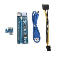 Pcie Pci-e Pci Express Riser Card 1x To 16x GPU USB 3.0 Extender X1 X16 Adapter SATA 6Pin Power Cable Miner Computer Cables & Connectors