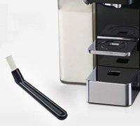5.5inch máquina de café limpeza escovas de nylon moedor espresso garra de plástico alça keyboards cozinha limpador ferramentas ccf7378