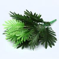 90 cm 39 teste piante tropicali grande palma artificiale falso monstera foglie di palma di seta foglie false foglie per la casa decorazione del giardino 2175 V2