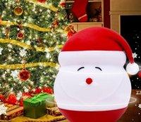 Silicona LED iluminó Santas Night Light Christmas y Año Nuevo Decoración de la decoración Luces Regalos HWD10322