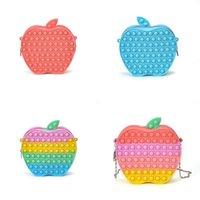 delivery Sensory Fidget Silicone Purses Bubble Toys Backpack Kids girls Chain Bag Apple Cartoon Fanny Pack Crossbodys Finger Boar 2921 Y2