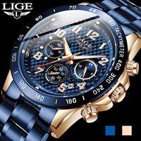 Arrival Men Watches LIGE Top Sport Watch Chronograph Quartz Wristwatch Date Male Relogio Masculino+Box Wristwatches