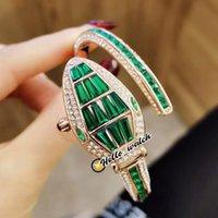 Moda Serpenti Misteriosi senhoras Wristband relógios 102615 Womens assistir suíço quartzo rosa ouro verde diamante pulseira de enrolamento olá_watch 16 cor