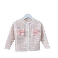 Girls Cardigan Kids Coats Baby Outerwear Cotton Crochet Knitting Patterns Toddler Sweaters Autumn Winter Sweater Infant Jacket Top B8622