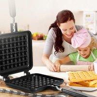 Pişirme Kalıpları Çift Kafa Mutfak Gaz Yapışmaz Waffle Makinesi Pan Kalıp Merdanesi Aracı Kabarcık Yumurta Kek Tepsi Kahvaltı Makinesi