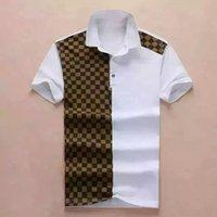 Moda Erkek Polo T Shirt Yılan Nakış Polos Arı Şerit Erkekler Yüksek Sokak Rahat At Tees Gömlek Boyutu M-XXXL W96 Tops
