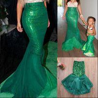 Kids Girls Cute Beatiful Fashion Womens Skirts Sexy Mermaid Halloween Costume Fancy Party Tail Skirt High Quality