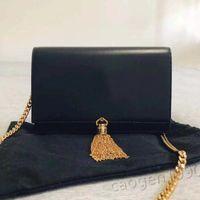 2021 Tassel Messenger Сумка Классическая сумка Роскошный дизайн Дамы Одно плечо Цепочка Высококачественная кожа Мода Ретро с коробкой