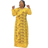 Abayas Yellow Color Dress African Dubai Turkey Muslim Woman Clothing Moroccan Boubou Arabic Evening Gowns Fashion Wth Sling Ethnic