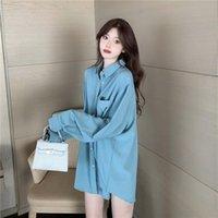Women's Blouses & Shirts Blouse Women Fall Vintage Long Sleeve Shirt Loose Top Blusas Ropa De Mujer