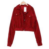 Женские куртки Febx Harajuku Corduroy повседневная куртка пальто Одиночный карман 2021 весенние пальто
