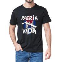 Men's T-Shirts Unisex 100% Cotton Patria Y Vida Cuba Cuban Freedom Movement Se Acabo Vintage Summer Novelty Oversized T-Shirt Women Tee