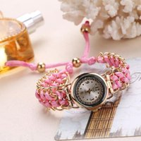 Saatı Casual Kadınlar Rhinestone Bilek İzle Moda El Yapımı Örgüler Bayanlar Kuvars Saat Relogio Feminino