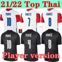 Versione del giocatore 20 21 Mandzukic Soccer Jerseys 2021 Casa Away Modric Perisic Kalinic Camiccia calcio Rakitic Kovacic Mens Kit Kit Kit Uniformi