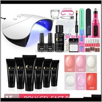 Kits Extention Gel Set With Manicure Hine Nail Polish For Uv Led Lamp Dryer Art Tools Kit Gu8Uw Xe3Zr