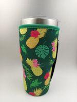 Drinkware Handle 10 StylesNeoprene Tumbler Holder Cover Bags 30 OZ Reusable Insulated Sleeve bag Coffee Mugs BY Sea B3