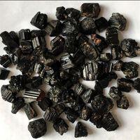 Großhandel 100g Natürlich Schwarz Turmalin Raue Mineralquarz Quarz Kristall Kies Trommelstein Reiki Heilung Für Degaussen 1333 T2