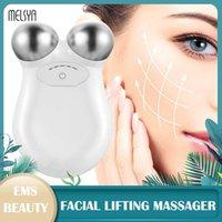 Enfrente a máquina de elevação da pele apertando a tonificação ajustada Microcurrent Massageador de beleza Antiaging Remover Massagem 210806