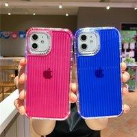 Casos de telefone 3in1 Bagagem de cor pura TPU para iphone 12 11 pro promax x xs max 7plus 8plus capa capa