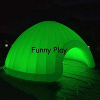 Giant Inflatable LED Dome Party Event Camping Tent With Colorful Light For ,exhibitions Tents And Shelters