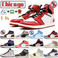 Chicago UNC مسحوق الأزرق 1 1 ثانية أحذية كرة السلة منتصف رجل رياضة العشب البرتقالي الانصهار الأحمر أعلى 3 ميلان التنوب هالة صدأ الظل الرجال النساء المدربين الرياضة