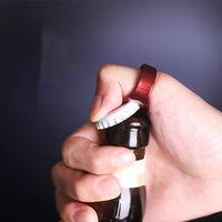 Портативный палец кольцо бутылки открывалка красочные из нержавеющей стали пиво открывает инструмент для вечеринки поставляет кухонные инструменты подарки T2i51932