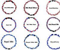 Collares trenzados de titanio Collar deportivo de béisbol de softball para mujeres Hombres Gargantillas Collar ZHL3372