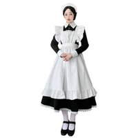 Frauen Maid Outfit Anime Long Dress French Court Maid Dress Lolita Kleider Cosplay Kostüm G0913