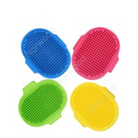 Dog Bath Brush Comb Silicone Pet SPA Shampoo Massage Brush Shower Hair Removal Comb For Pet Cleaning Grooming Tool DAN353