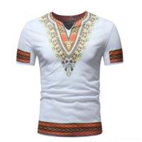 CZRY Grand Groupe Nationality T-shirts Hommes> Courtes à manches courtes V-Col ZT-T08 Grand T-shirt de groupe ethnique ethnique de l'homme