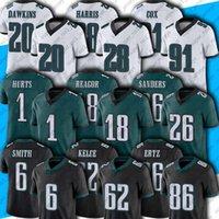"18 JALEN Requegor 55 Brandon Graham Jersey Fletcher Cox Zach Ertz Goedert Futbol Formaları Philadelphia ""Eagles"" 6 Devonta Smith"