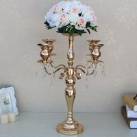 Candle Holders 12pcs)50cm Tall)wholesale Decoration Metal 5 Arm Candelabra For Wedding Table Centerpieces Yudao1333