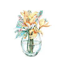 Pinturas Lirio Pintura sobre lienzo para adultos Políneo Imagen por número DIY Kits de artesanía Dibujo para colorear Pintura acrílica Decoración del hogar Arte