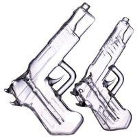 Pistole Bubbler Hand farbige Glas Waffenrohr Rauchen Ölbrenner Rohr Wasserbongs Zubehör Herbrohre