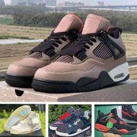 Top Quality 2021 con scatola Taupe Haze Jumpman 4 scarpe da basket 4 san vela seashiko rosso thunder università blu donne uomini formatori scarpe da ginnastica