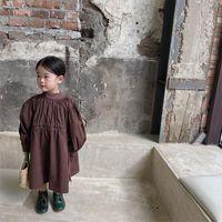 Girl's Dresses Girl Dress Kids BabyParty Evening Gown 2021 Stylish Warm Plus Velvet Thicken Winter Autumn Princess Cotton Children Clothing