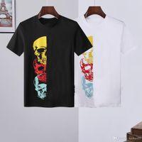 2021 hombres de alta calidad camiseta algodón O-cuello de manga corta Diamante Skulls Tshirts estilo casual para camisetas deportivas M-3XL