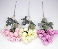 Fiori artificiali tessuto di seta nozze festa di nozze casa fai da te decorazioni floreali di alta qualità grande bouquet artigianale falso fiore d'arredo floreale HWC7053