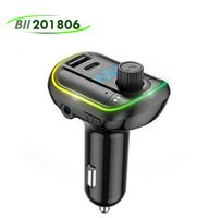 Colorful Light Type C Car MP3 PD 18W Fast Charger Bluetooth 5.0 FM Transmitter Wireless Handsfree Audio Receiver With USB Support TF   U Disk Music Play 20X
