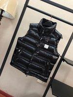 2021 veste colete de alta qualidade colarinho de pé preto moda luxo masculino jaqueta para baixo