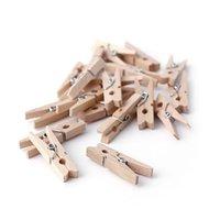 Roupa de vestuário Armazenamento 50 pcs 25-72mm Natural Wooden Roupas PO papel PEG Preg clips de artesanato