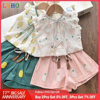 Summer Toddler Girls Tops Blouse Short Paints Suit Pineapple Fruit Printing Clothes Sets Girl Clothing Outfit Kids Costume