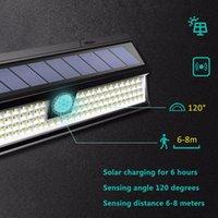 Luz solar al aire libre Control remoto Lámpara de pared Sensor de movimiento Luz de calle 248 LED Construido en la batería Apagado por la batería ABS a prueba de agua