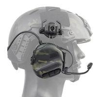 Тактический шлем гарнитура электронные антимопользовательские съемки наушников с коммуникационным микрофоном губчатые ушные подушки на открытом воздухе
