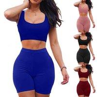 2 Yoga Women's Two Piece Dress Crop Top Skirt Set Outfits Summer Clothes For Women Sleeveless