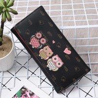 Uil Leuke Printed Women Portfolios Simple Retro Uil Printing Long Wallets Card holders Handbag Credit card holder #3SVVS