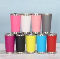 16 Farben 20 Unzen Becher Edelstahl Vakuum isoliert Doppelwand Weinglas Thermal Tasse Kaffee Bier Becher mit Deckeln für Reise CJ30